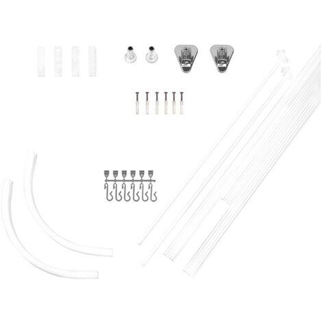 RIDDER Universal Shower Curtain Rail White 160x70 cm