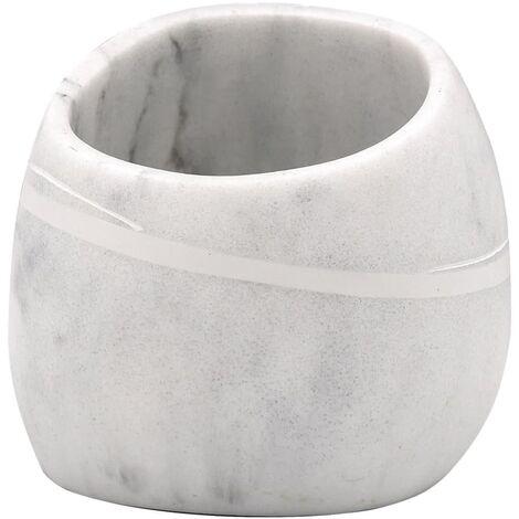 RIDDER Vaso para lavabo Little Rock color mármol blanco