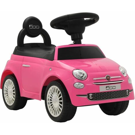 Ride-on Car Fiat 500 Pink - Pink
