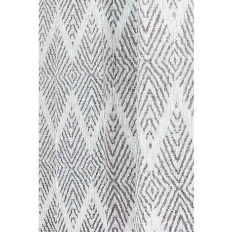 Paire de voilage frou frou marron et blanc neuf 60x90 Douceur d/'Intérieur