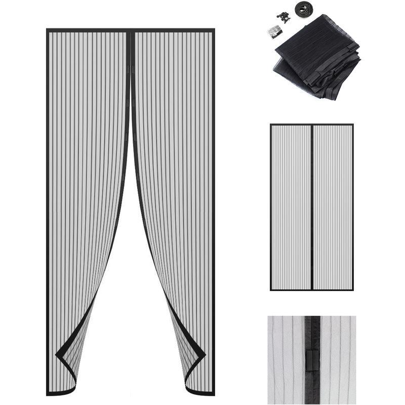 Rideau /à Aimants pour Porte Dimensions: 220 x 100 cm Mat/ériau: Aimant Sotech 220 x 100 cm Moustiquaire /à Aimant Noir