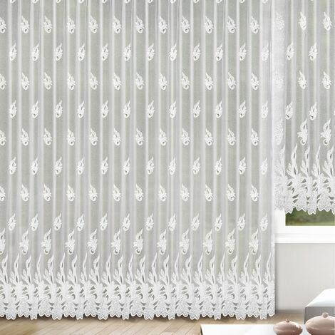 Rideau à galon fronçeur grande largeur Blanc 300 x 245 cm - Blanc