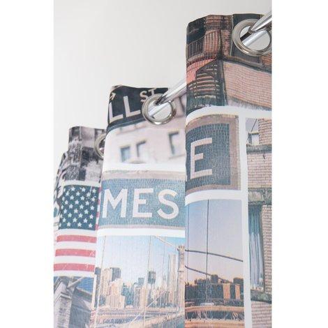 Rideau à Oeillets 140 x 240 cm Photoprint Motif Imprimé New York City Multicolore