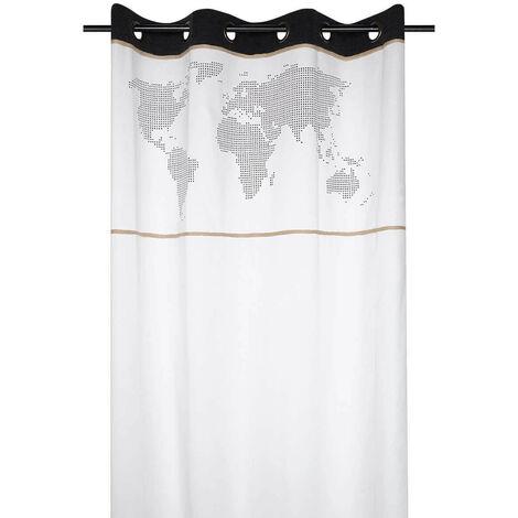 Rideau à œillets 140x260 cm Handcraft écru coton - Blanc