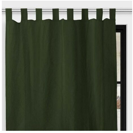 Rideau à pattes en microfibre - 135 x 250 cm - Bohème - Vert - Livraison gratuite