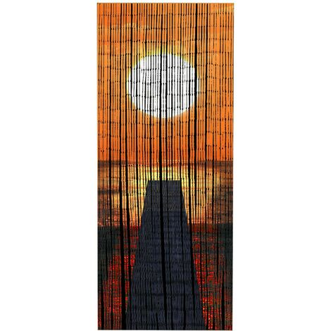 Rideau bambou, rideau de porte bambou, Coucher de soleil WENKO