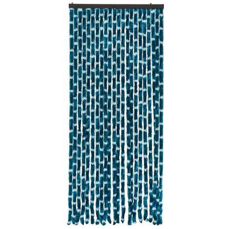 Rideau chenille bleu et blanc 90x220cm Werkapro