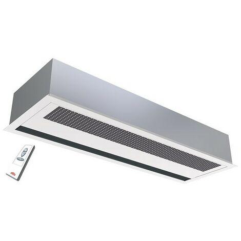 Rideau d'air chaud électrique encastré - 1000/1800m³/h - 1078mm - Gris