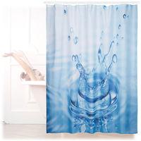 Rideau de douche 180 x 180 cm salle de bain motifs goutte d'eau anti-moisissures , bleu