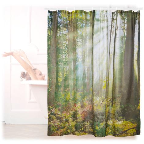 Rideau de douche 180 x 180 cm salle de bain motifs nature ...