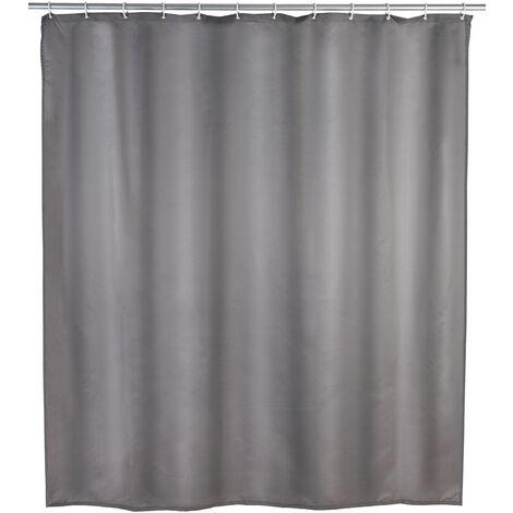 Rideau de douche anti-moisissure gris WENKO