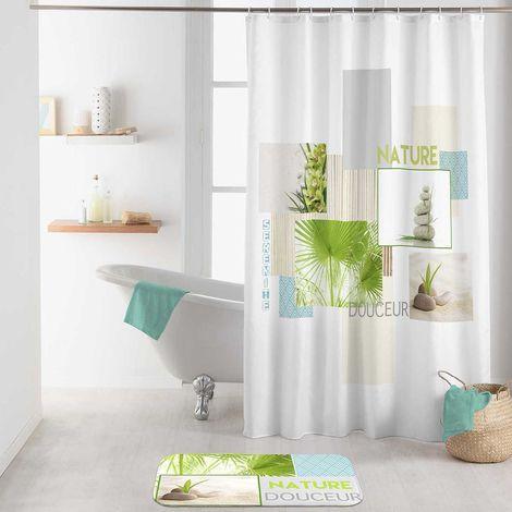 rideau de douche s r nit et douceur blanc 1106100hb92497. Black Bedroom Furniture Sets. Home Design Ideas