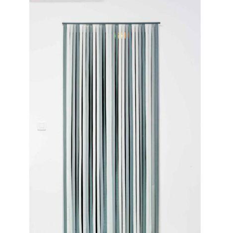 Rideau de porte 90x200cm coloris gris