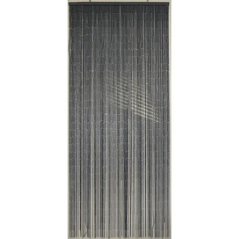 Rideau de porte BAMBOE 90 x200 cm gris - gris