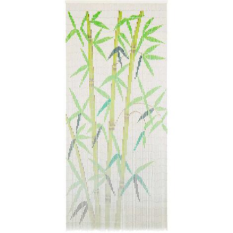Rideau de porte contre insectes Bambou 90 x 200 cm