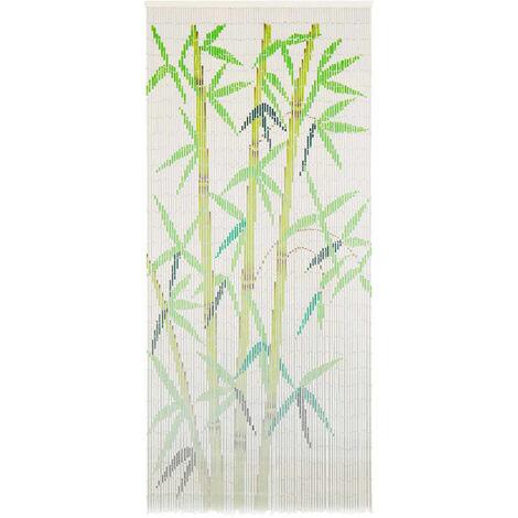 Rideau de porte contre insectes Bambou 90 x 200 cm - or