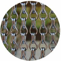 Rideau de porte en aluminium Alusax