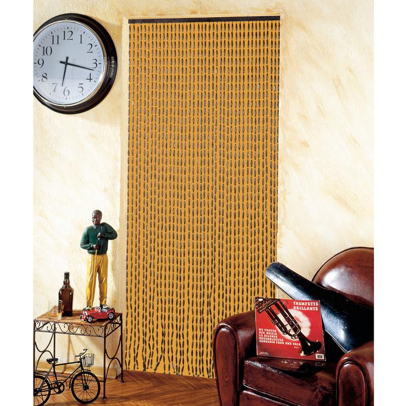 Rideau de porte en perles de bois 90 x 200 cm e530 - Rideau de porte en perles ...