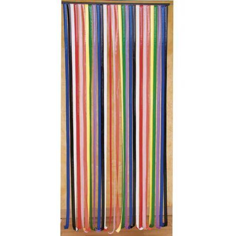 Rideau De Porte Lanières Plastique Multicolore