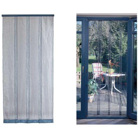 Rideau de porte moustiquaire Mosquito Gris - 100 x 220 cm