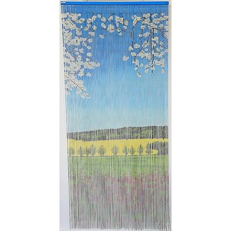 Rideau de porte perles bambou int rieur et ext rieur porte d 39 entr e porte fen tre 90x200cm - Rideaux de porte exterieur ...
