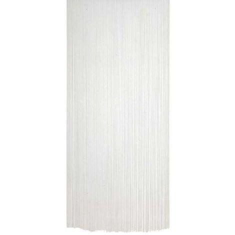 Rideau Fil De Porte En Polyester Blanc Nri1470