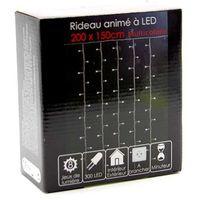 Rideau lumineux à LED électrique Multicolore 2 x 2 m