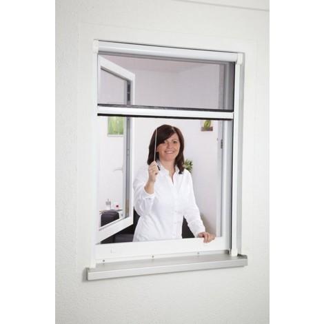 rideau moustiquaire enroulable cadre pvc blanc hauteur. Black Bedroom Furniture Sets. Home Design Ideas