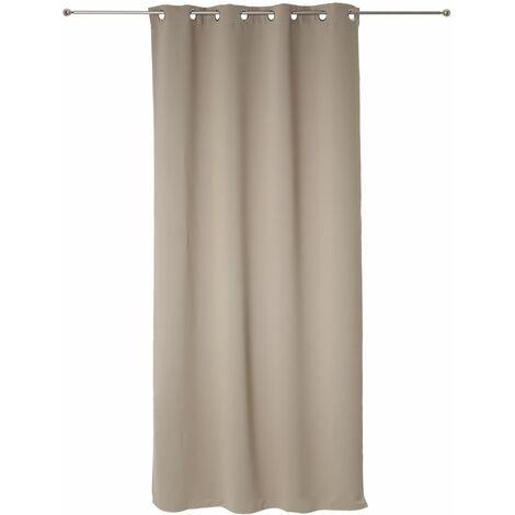 rideau occultant - 140 x 260 cm. - polyester - couleur lin - 505461