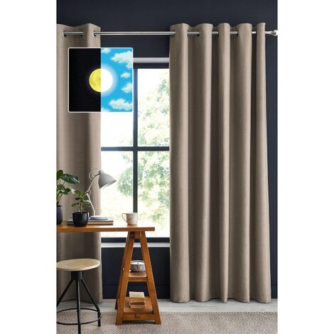 Rideau occultant luxe 140 x 260 cm obscure Beige