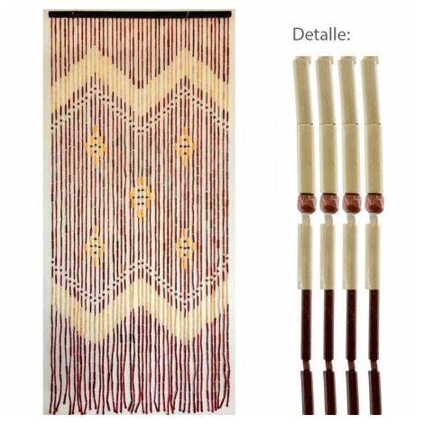 Rideau porte 42 bandes bambu 90x200 cm.