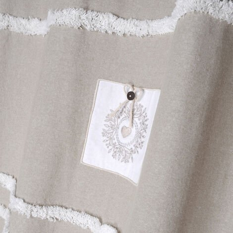 Rideau tamisant campagne chic Lin 140 x 260 cm - Lin