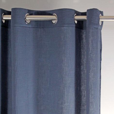 Rideau tamisant Tzigane Bleu Marine 130 x 260 cm - Bleu Marine