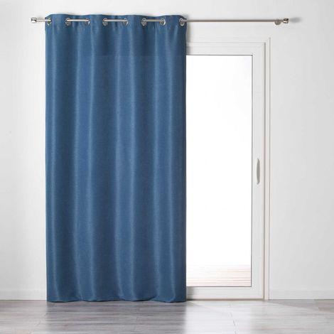 Rideau Tamisant Uni et Coloré Anthracite 140 x 240 cm
