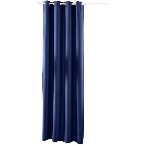 Rideaux A Isolation Thermique, Bleu Profond, 1 Panneau, 39X98Po
