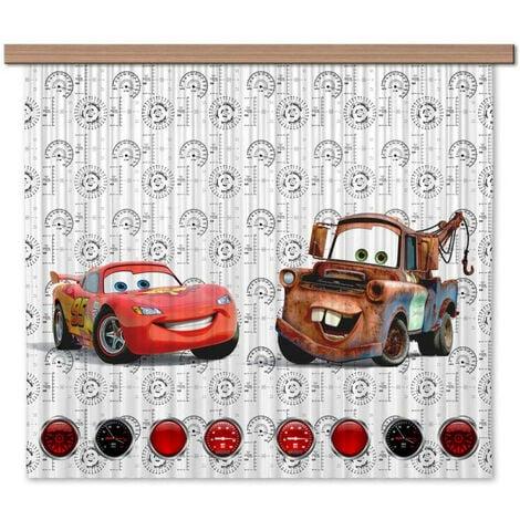 "main image of ""Rideaux Cars Flash Mcqueen et Martin Disney - Light : 180X160 cm"""