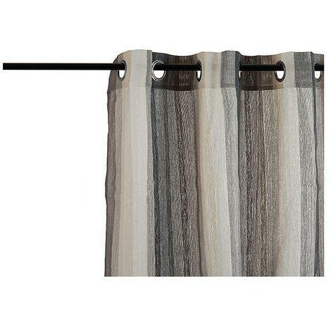 Rideaux Gris Rayures (260 x 1 x 140 cm)
