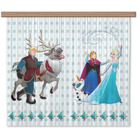 Rideaux La Reine des Neiges Disney-Voilage : 180x160 cm