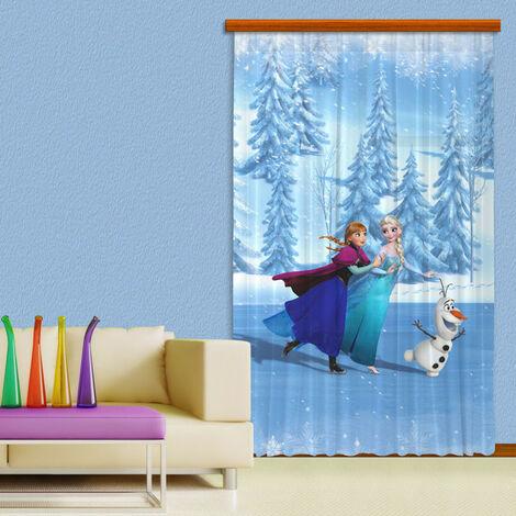 Rideaux La Reine des Neiges Glace Disney - Voilage : 140x245 cm