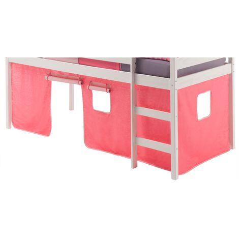 Rideaux pour lit superposé ou lit surélevé coton rose