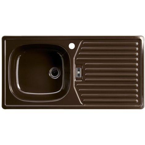 Rieber E 86 K 72010903 - Lavello a una vasca (a sinistra), colore: Caffè