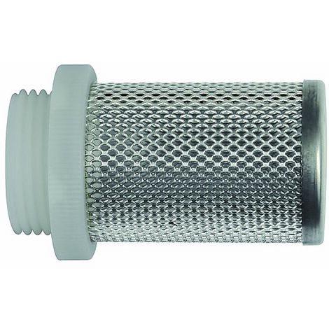 RIEGLER Crépine d'aspiration pour clapet anti-retour, G 1 1/2, acier inoxydable 1.4301 / plastique