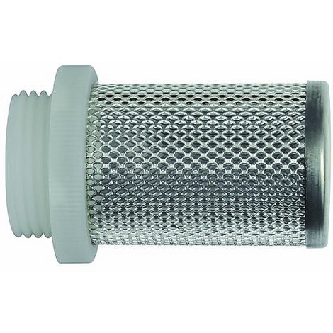 RIEGLER Crépine d'aspiration pour clapet anti-retour, G 3/8, acier inoxydable 1.4301 / plastique