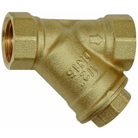 RIEGLER Filtro, latón brillante, G 1 1/2, DN 40, MW 0,2 mm