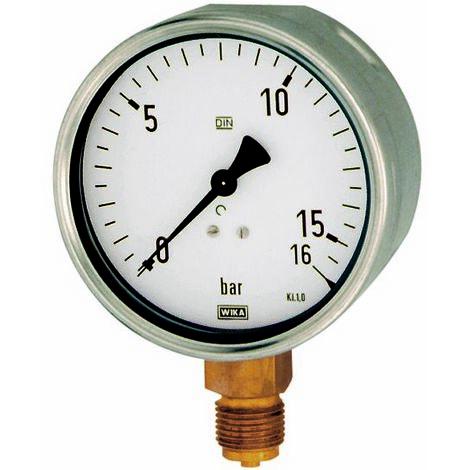 Messber Einfachskala in bar Standardmano G/üteklasse 1,6 /Ø 50 Anschluss hinten zentrisch Kunststoffgeh G 1//4 0-10,0 bar