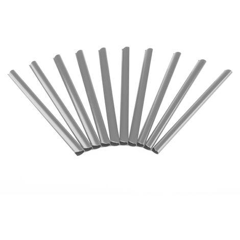 Rieles de sujeción Fijación de láminas de PVC para vallas Pantalla de privacidad Alfombras de doble vara gris