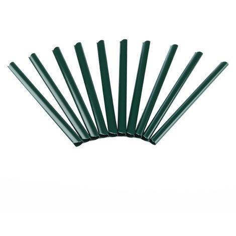 Rieles de sujeción Fijación de láminas de PVC para vallas Pantalla de privacidad Alfombras de doble vara verde