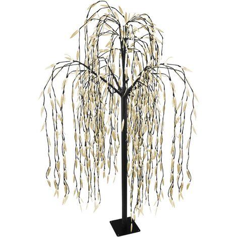 Riesiger Lichterbaum Trauerweide 810 warmweiße LED H210cm Lichterdeko Stimmungslicht Leuchtbaum Dekoration Stimmungsleuchte