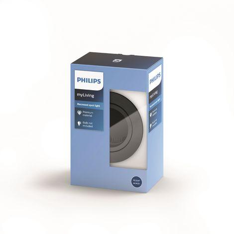 Anello da incasso Philips Donegal CircolareArgento GU10 | Senza Lampada/Vedi Accessori (PH-8718696160886)