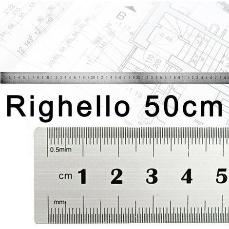righello da ufficio 2 pezzi in acciaio inox da 15 e 30 cm Righello dritto